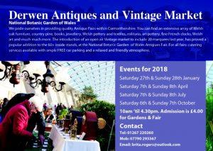 Derwen Fairs Advert 2018: National Botanic Gardens Llanarthne