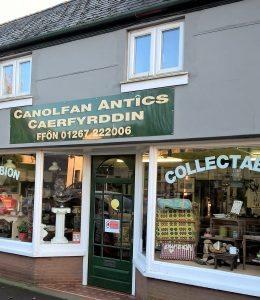 Carmarthen Antiques Centre Shop Front