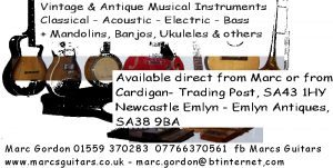 Marc's Guitars Cardigan and Newcastle Emlyn