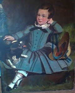 Art Restoration Blue Boy Painting