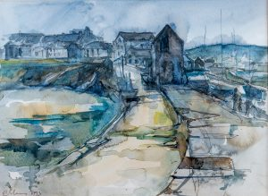 Harbour Scene New Quay West Wales