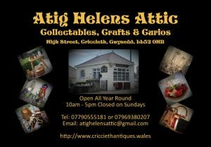 Atig Helen's Attic Advert