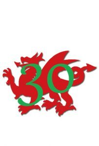 Wales Antiques Guide 30th Logo