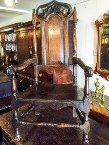 Derrick Lee Antiques Oak Chair