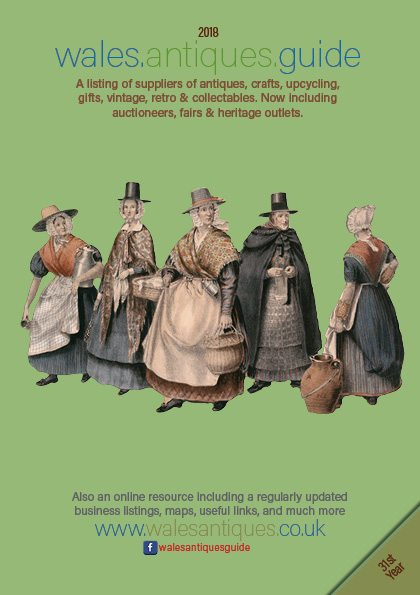 Image: Cover of the newest Wales Antiques Guide - 2018