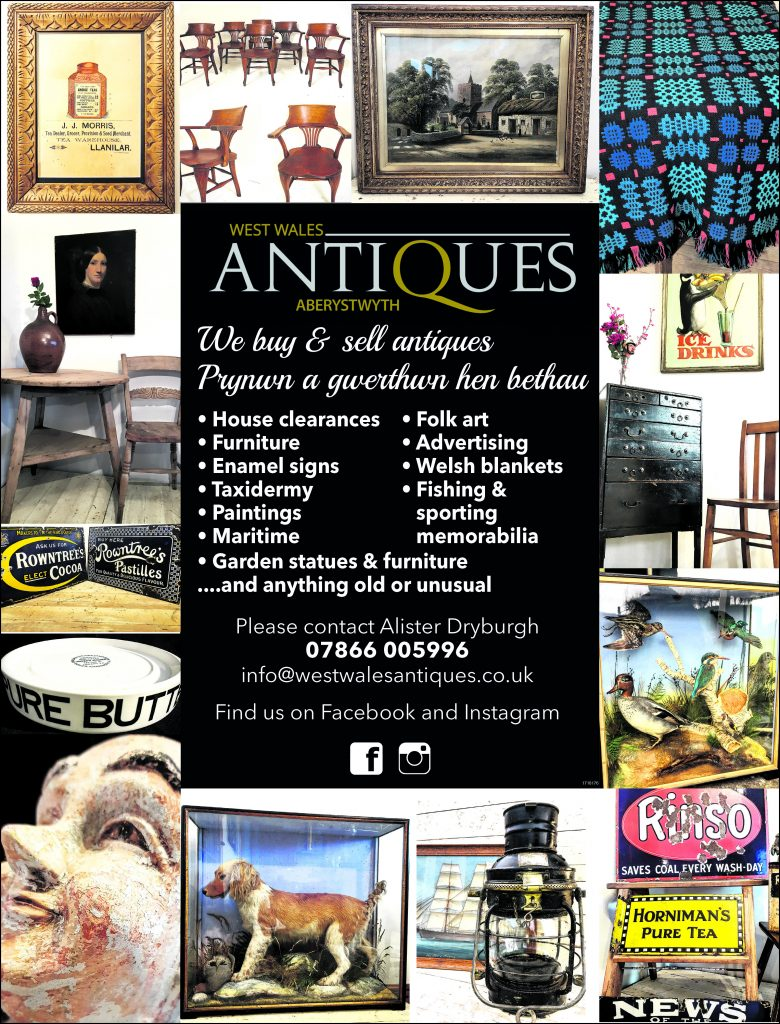 Advert for West Wales Antiques Aberystwyth