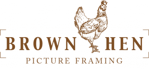 Brown Hen Picture Framing Logo