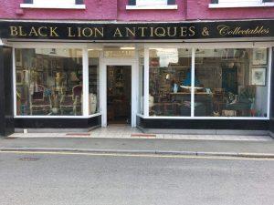 Black Lion Antiques llandovery Shop Front