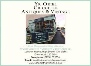 Oriel Criccieth Antiques Advert
