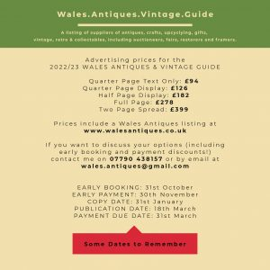 Wales Antiques Advert Pricing