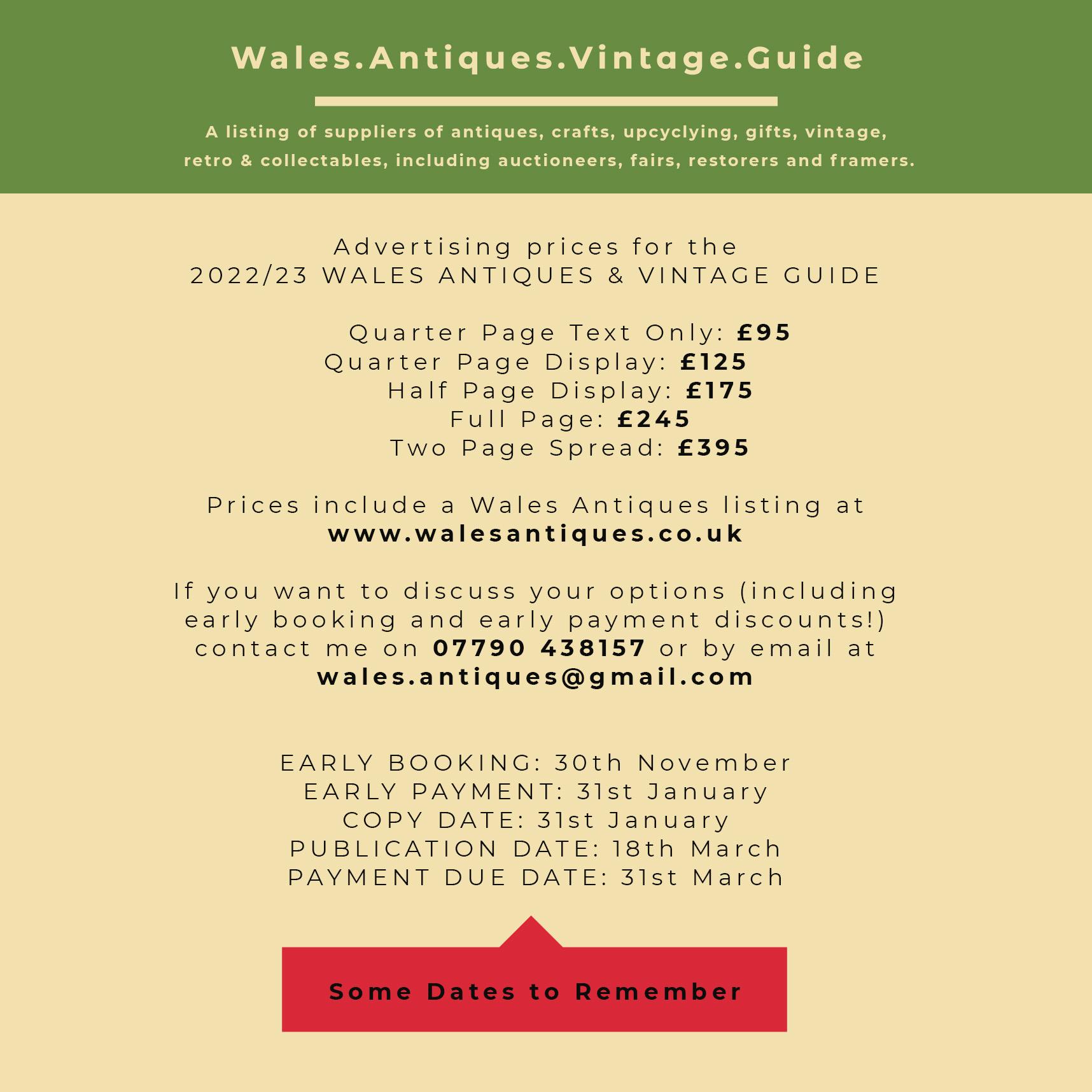 Price Information Advertising WAG 2022